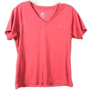 Adidas Pink Short Sleeve Athletic Shirt